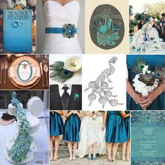Peacock wedding.  Thanks for the pin board @Danielle Zambrano.  The peacock drawings are nice, what do you think @Jessica Molina?