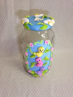 Pote De Vidro de Passarinhos Ideas Para, Cactus, Lunch Box, Pasta, Decorated Bottles, Diy Crafts, Kitchen Canisters, China Mugs, Creative Gifts