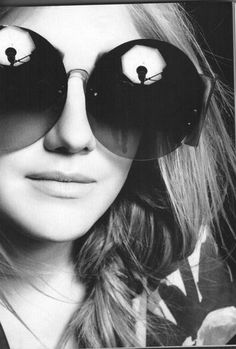 cool reflection.  fierce shades.