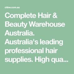 Complete Hair & Beauty Warehouse Australia. Australia's leading professional hair supplies. High quality and inspiring hair care products, professional salon furniture, hairdressing products and more. Buy online for exclusive range and exciting offers! Hairdressing Supplies, Grey Poodle, Hair Supplies, Salon Furniture, Professional Hairstyles, Hairdresser, Warehouse, Hair Care, Hair Beauty