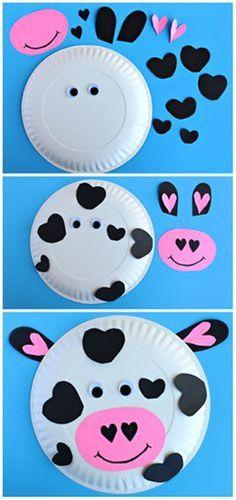 Paper plate Montessori cow craft