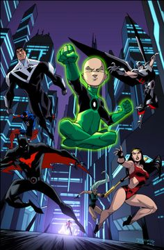 Green Lantern Kai-Roh leads the Justice League Beyonds.