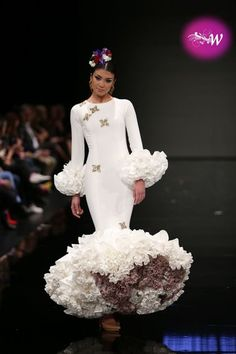 Simof 2018 - Ernesto Sillero Spanish Dress, Spanish Dancer, Flamenco Dancers, Flamenco Dresses, Fishtail, Ruffles, Mermaid, African, Gowns