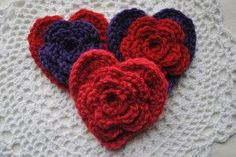 Free Valentines Day Heart Pattern Layered Daisy in a Heart ~ free pattern