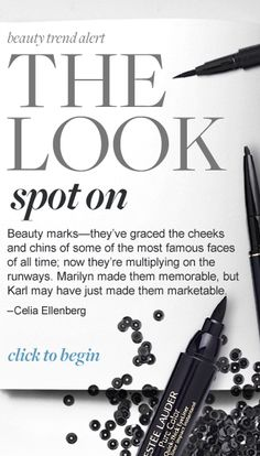 The Look: Beauty Marks