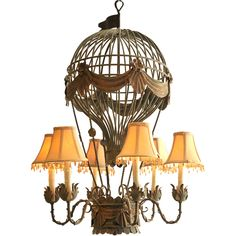 Hot Air Balloon Chandelier | From a unique collection of antique and modern chandeliers and pendants  at http://www.1stdibs.com/furniture/lighting/chandeliers-pendant-lights/