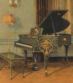 Tuscany Inspired Knabe Mignonette Baby Grand Piano | The Antique Piano Shop