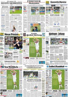 Montagem - Capas Jornais Alemães (Foto: Editoria de Arte)
