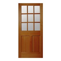 Shop ReliaBilt 2 Panel 9 Lite Universal Reversible Wood Douglas Fir  Unfinished Slab Entry Door (Common: 32 In X 80 In; Actual: 80 In X 32 In)  At Lowes.com