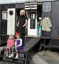 mobile vintage clothes shop unusual camper van unusual interiors horse box conversion www.crystalvintag... www.crystalvintag... twitter.com/... Gloria, the Crystal vintage dressing up box, as seen on George Clarke's Amazing Spaces series 2, ep 4 channel4