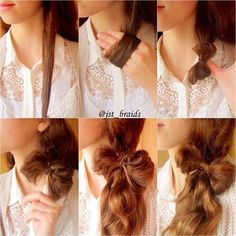 10 Sassy Hair tutorials to Try - Pretty Designs Ponytail Hairstyles, Girl Hairstyles, Bow Braid, Half Updo, Sassy Hair, Step By Step Hairstyles, Elegant Hairstyles, Stylish Hair, Hairstyle Tutorials