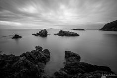 Rocky Coastline, Rosario Head, Deception Pass State Park, Washington, 2015   Click the picture above for information on purchasing a fine art photography wall print.   #blackandwhite #landscape #seascape