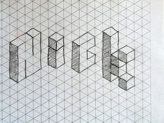 Name on isometric grid - 6th grade