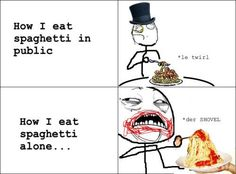 How I eat spaghetti.