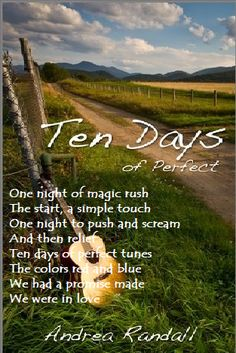 Heartbeats...  One night of magic rush  The start, a simple touch  One night to push and scream  And then relief  Ten days of perfect tunes  The colors red and blue  We had a promise made  We were in love