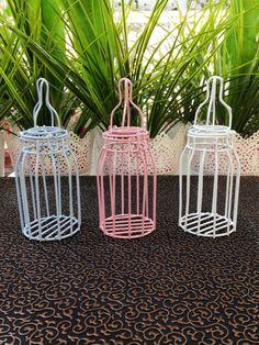 Baby bottle favor box wire favor boxes idea by UniqueDecorSUPPLIES