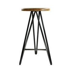 Belly up to the bar or kitchen island with this Industrial Modern Bar Stool. Infused with mid-century design, the stool's iron hairpin legs and reclaimed wooden platform seat make an attractive piece t...  Find the Industrial Modern Bar Stool, as seen in the Dining Furniture Collection at http://dotandbo.com/collections/dining-and-entertaining-sale-furniture?utm_source=pinterest&utm_medium=organic&db_sku=HMA0043