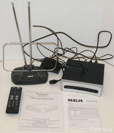 VENTURER ATSC ANALOG TO DIGITAL CONVERTER BOX & RCA ANT111 BASIC INDOOR ANTENNA