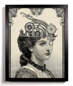 The Steampunk Queen Giclee Art Print 8 x 10 Buy 2 di StayGoldMedia, $9.99