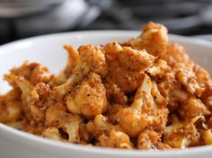 No. 44: The Best Cauliflower Ever : Spice up sauteed cauliflower by tossing it in a roasted red pepper sauce and topping it all off with breadcrumbs and sesame seeds for added crunch.