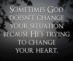 Change of heart required
