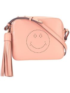 ANYA HINDMARCH 'Smiley' crossbody bag. #anyahindmarch #bags #shoulder bags #leather #crossbody #