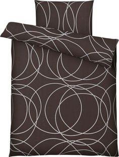 Bettwäsche aus 100% Polyester in der Farbe Nougat. B/L: ca. 135/200cm und 80/80cm.