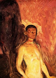 Self Portrait In Hell, Edvard Munch, 1903