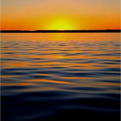 Sunset over the St Johns River in East Palatka, Florida