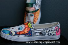 Custom Hand Painted Shoes Hand Painted Shoes by blancaplatafineart, $200.00
