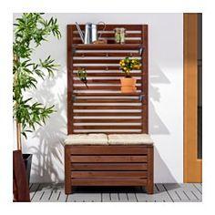 Jardinera de madera con celos a muebles pinterest for Celosia madera ikea