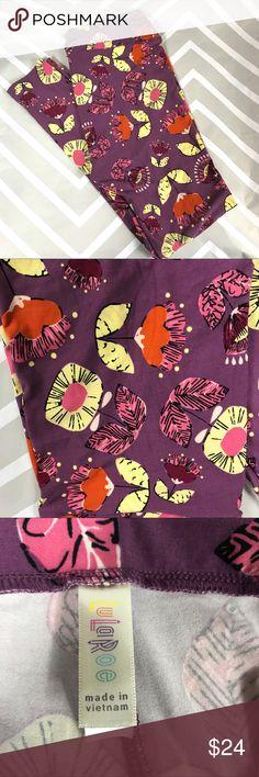 NWOT Lularoe Tall & Curvy floral leggings Brand new Tall & Curvy leggings.  I am not nor have I ever been a Lularoe consultant.  No trades. LuLaRoe Pants Leggings