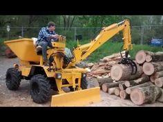 CMI-Longhini Dumper Holzstapeln - YouTube Log Trailer, Homemade Tractor, Tractor Pictures, Go Kart, Lawn Mower, Montana, Tractors, Outdoor Power Equipment, Mini