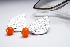 geometric drop stud earrings  earrings aluminium glass  by amabito, €15.00