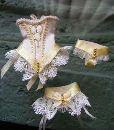 Miniature 12th scale Wedding Corset Set in by PhoebesIrishMinis, £12.25