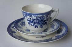10 Blå Fasan kaffekopper m/skål og asjett - Selges av oharal fra Bybrua på QXL.no