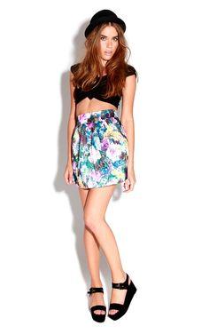 Kassidy Pink Floral Tulip Skirt