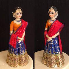 Indian theme wedding cake by The Hot Pink Cake Studio by Ipshita how beautiful! Indian Cake, Indian Wedding Cakes, Indian Theme, Themed Wedding Cakes, Indian Wedding Outfits, Wedding Cake Toppers, Fondant Cake Toppers, Fondant Figures, Hot Pink Cakes