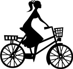 Silhouette Online Store - View Design  25386  girl on bicycle Silhouette  Online Store dbcc4b07e0