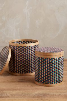 Bamboo Geo Baskets - anthropologie.com