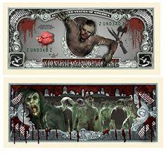 Set of 50 - Zombie Million Dollar Bill @ niftywarehouse.com #NiftyWarehouse #Zombie #Horror #Zombies #Halloween