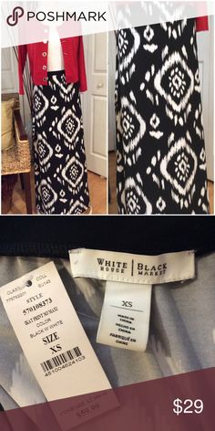 White House Black Market Maxi Elastic waistband.  Smooth soft material.  I never wore it. Brand new. White House Black Market Dresses Maxi