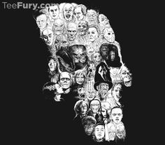 Horror Skull by Moutchy. Get yours here: http://www.teefury.com/horror-skull?utm_source=pinterest&utm_medium=referral&utm_content=horrorskull&utm_campaign=marchgalleryrelease