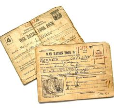 Just found nine of these ration books that are made out to my husband's mother and her parents.  What a treasure!