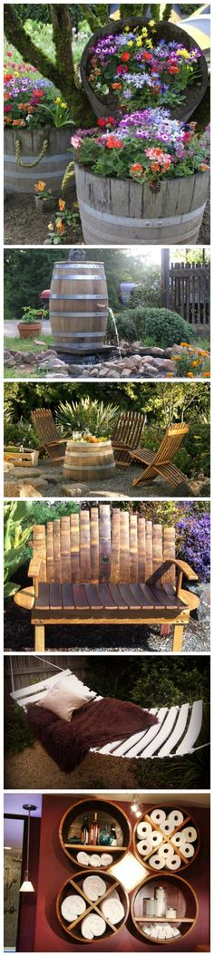 25 Awesome Recycled Wine Barrel Ideas