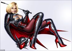 Power Girl as Nightwing by Candra.deviantart.com on @deviantART