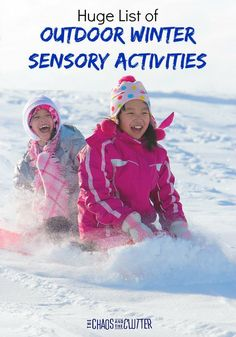 Huge List of Outdoor Winter Sensory Activities designed to get your kids enjoying the colder months too #sensory #sensoryplay