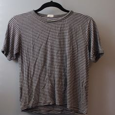 J Galt (from Brandy Melville) striped tshirt green, white, and navy striped tshirt. good condition. Brandy Melville Tops Tees - Short Sleeve