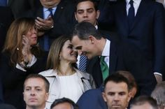 King Felipe and Queen Letizia at King's Cup Final Match