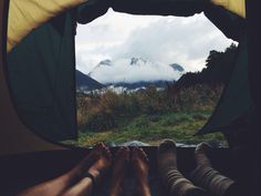 . . Tent lingering . .